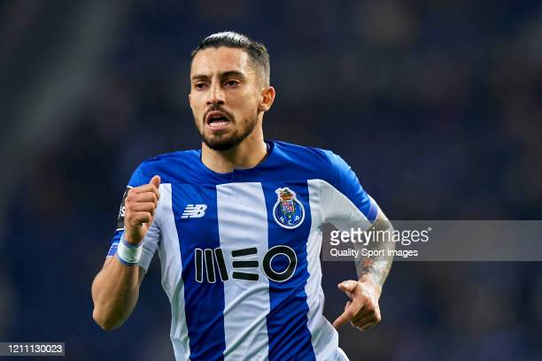 Alex Telles of FC Porto looks on during the Liga Nos match between FC Porto and Rio Ave FC at Estadio do Dragao on March 07 2020 in Porto Portugal