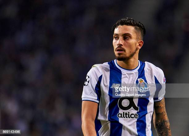Alex Telles of FC Porto looks on during the UEFA Champions League group G match between FC Porto and RB Leipzig at Estadio do Dragao on November 1...