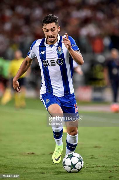 Alex Telles of Porto during the match between FC Porto v AS Rome UEFA Champions League playoff match in Rome Italy on August 23 2016