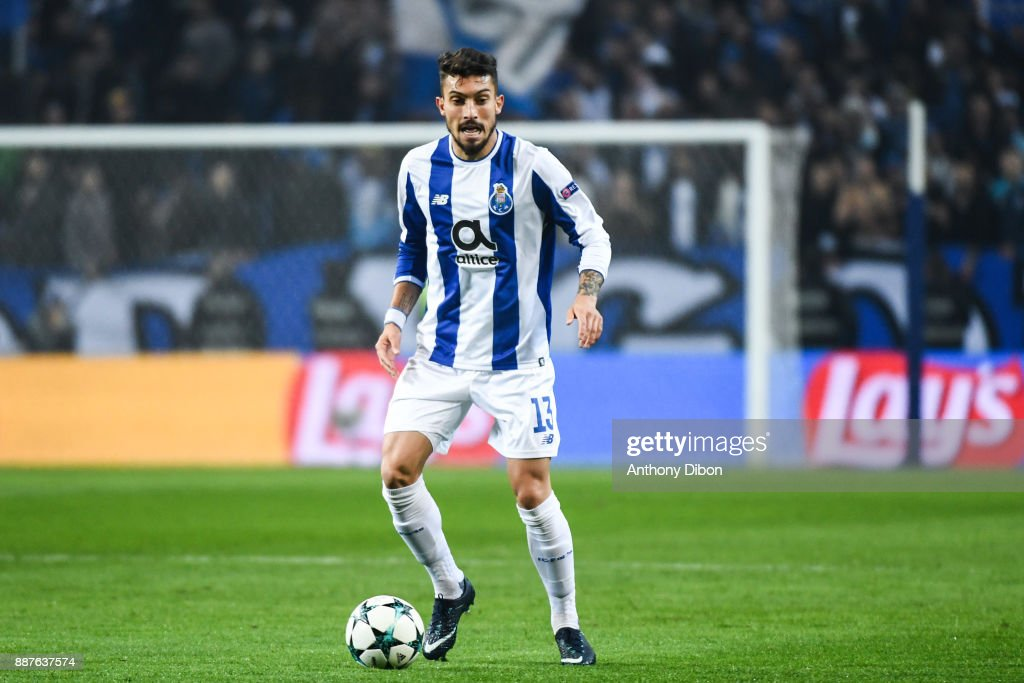 Alex Telles of Porto during the Uefa Champions League match between Fc Porto and As Monaco at Estadio do Dragao on December 6, 2017 in Porto, Portugal.