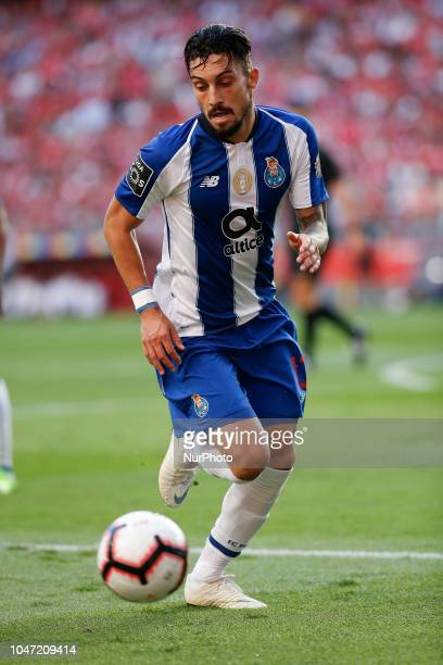 Alex Telles of Porto in action during the Portuguese League football match between SL Benfica and FC Porto at Luz Stadium in Lisbon on October 7 2018