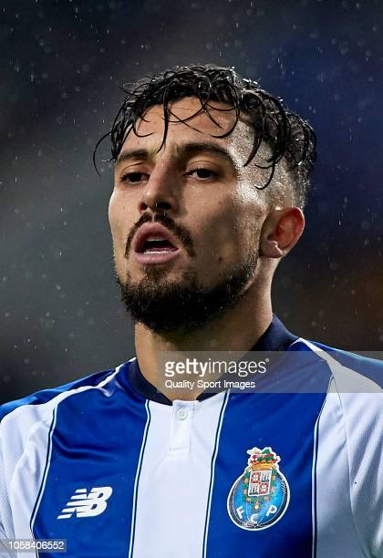 Alex Telles of Porto looks on during the Group D match of the UEFA Champions League between FC Porto and FC Lokomotiv Moscow at Estadio do Dragao on...