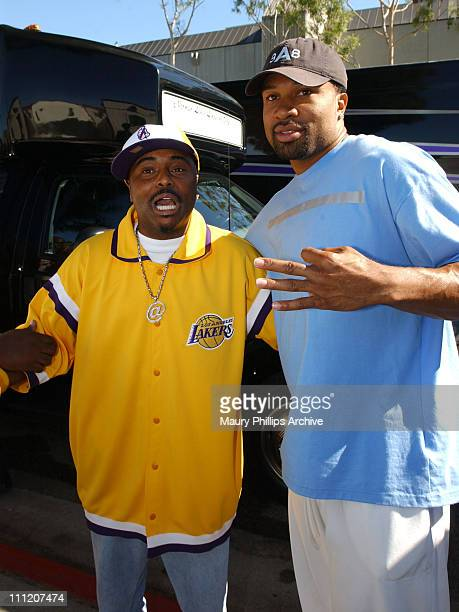 Alex Thomas and Derek Fisher during Tyrese Gibson Watts Foundation 3rd Annual Watts Day 2003 at Charles Drew University of Medicine and Science in...