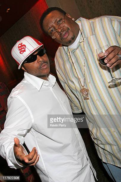 Alex Thomas and E40 during And1 Mixtape Tour Volume 9 Premiere After Party at White Orchid in Hollywood California United States