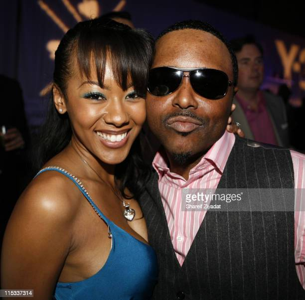 Alex Thomas and Guest during Kanye West's Heaven GRAMMY After Party Sponsored by Entertainment Weekly at The Lot Studios in West Hollywood United...