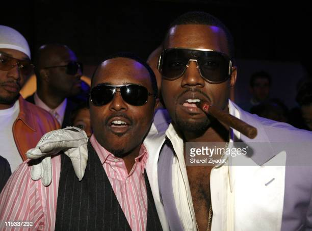Alex Thomas and Kanye West during Kanye West's Heaven GRAMMY After Party Sponsored by Entertainment Weekly at The Lot Studios in West Hollywood...
