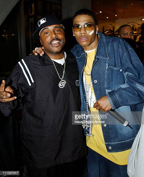 Alex Thomas and Nelly during Nike and Universal Music Present Nelly and St Lunatics PostAmerican Music Award Party CoSponsored by Remy at Nike Town...
