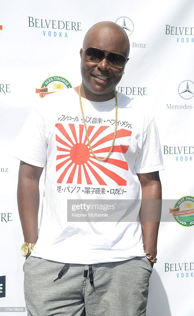 Alex Thomas arrives to the 4th Annual Alex Thomas Celebrity Golf Weekend Pool Party hosted by NFL's Jacoby Jones of the Baltimore Ravens at Hollywood Roosevelt Hotel on July 14, 2013 in Hollywood, California.