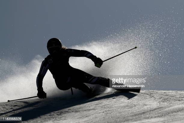 Alex Tilley of Great Britain competes during the Audi FIS Alpine Ski World Cup - Women's Giant Slalom at Rettenbachferner on October 26, 2019 in...