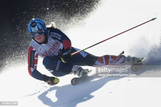 Alex Tilley of Great Britain competes during the Audi FIS Alpine Ski World Cup Women's Giant Slalom on November 25 2017 in Killington Vermont