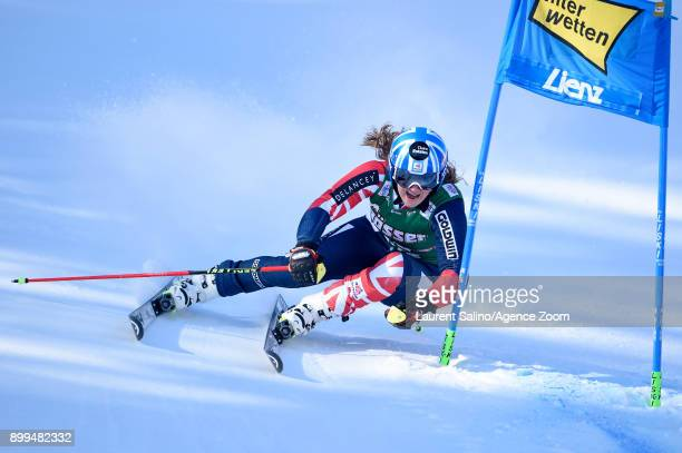Alex Tilley of Great Britain competes during the Audi FIS Alpine Ski World Cup Women's Giant Slalom on December 29 2017 in Lienz Austria