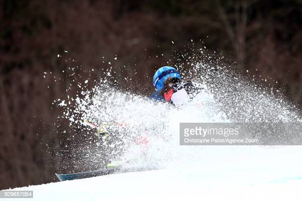 Alex Tilley of Great Britain competes during the Audi FIS Alpine Ski World Cup Women's Giant Slalom on March 9 2018 in Ofterschwang Germany