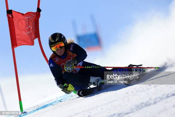 Alex Tilley of Great Britain competes during the Ladies' Giant Slalom on day six of the PyeongChang 2018 Winter Olympic Games at Yongpyong Alpine...