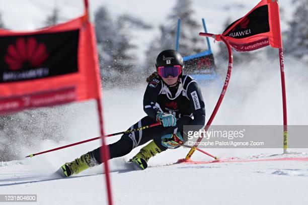 Alex Tilley of Great Britain in action during the Audi FIS Alpine Ski World Cup Team Parallel Slalom on March 19, 2021 in Lenzerheide, Switzerland.