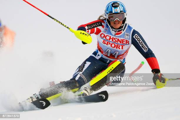 Alex Tilley of Great Britain in action during the Audi FIS Alpine Ski World Cup Women's Slalom on November 11 2017 in Levi Finland