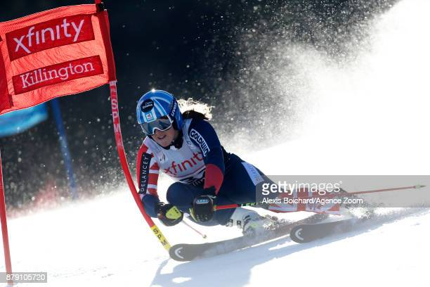 Alex Tilley of Great Britain in action during the Audi FIS Alpine Ski World Cup Women's Giant Slalom on November 25 2017 in Killington Vermont