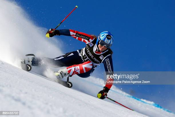 Alex Tilley of Great Britain in action during the Audi FIS Alpine Ski World Cup Women's Giant Slalom on December 19 2017 in Courchevel France