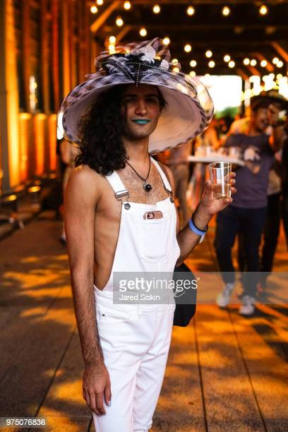 Alex Tomas attends the 2018 High Line Hat Party at the The High Line on June 14 2018 in New York City