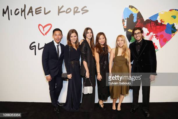 Alex Toy Ashley Allie Hannah Clayton Soy Kim Mell Kim and Matthew Dunne attend The 12th Annual Golden Heart Awards at Spring Studios on October 16...