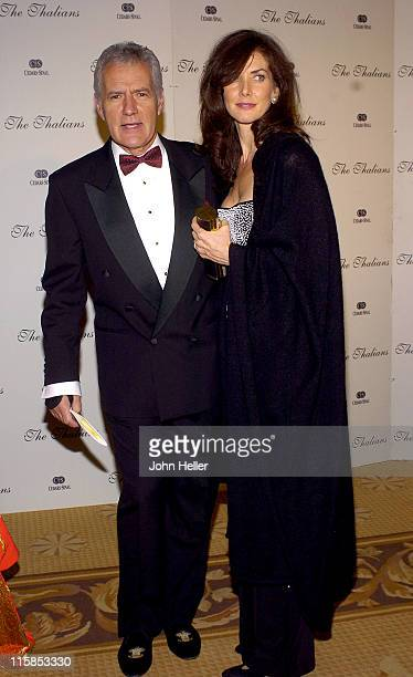 Alex Trebek and Jean Currivan during The 49th Annual Thalians Ball at Century Plaza Hotel in Los Angeles California United States