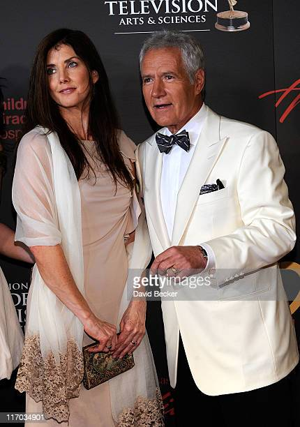Alex Trebek and Jean Currivan Trebek arrive at the 38th Annual Daytime Entertainment Emmy Awards held at the Las Vegas Hilton on June 19 2011 in Las...
