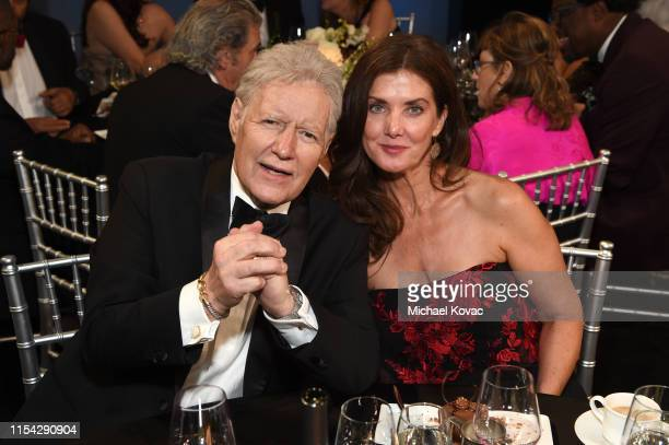 Alex Trebek and Jean Currivan Trebek attend the 47th AFI Life Achievement Award honoring Denzel Washington at Dolby Theatre on June 06 2019 in...