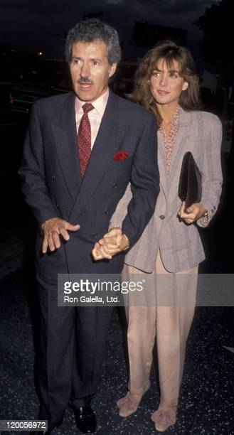 Alex Trebek and wife Jean Currivan attend the opening of Jackie Mason Brand New on May 30 1990 at the Henry Fonda Theater in Hollywood California