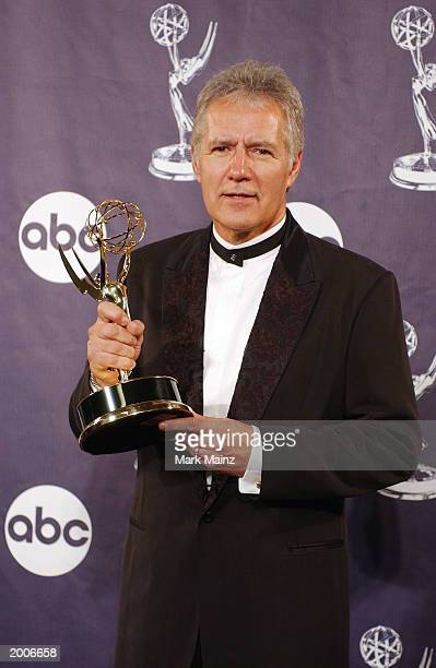 Alex Trebek attends the 30th Annual Daytime Emmy Awards May 16 2003 at Radio City Music Hall in New York City