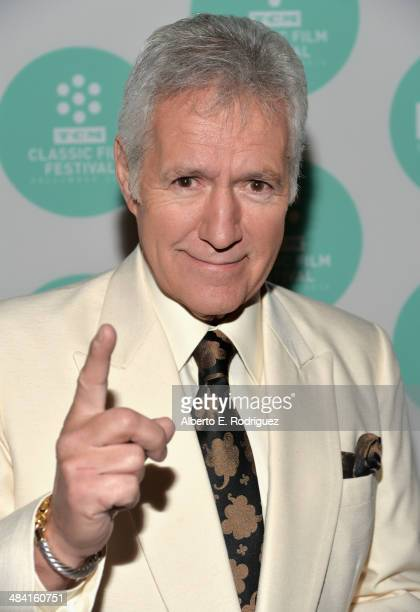 Alex Trebek attends the 'Zulu' screening during the 2014 TCM Classic Film Festival at the Egyptian Theatre on April 11 2014 in Hollywood California