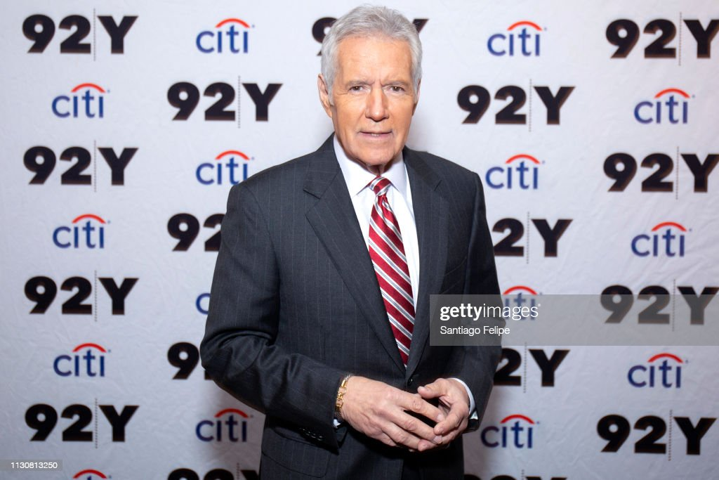 Alex Trebek And Michael McKean In Conversation : News Photo