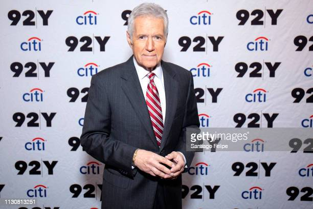 Alex Trebek attends 'Who is Alex Trebek Celebrating 35 seasons of Jeopardy' at 92nd Street Y on February 19 2019 in New York City