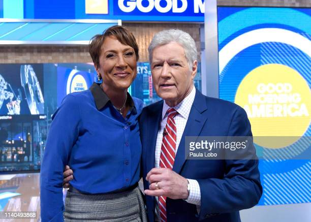 AMERICA Alex Trebek discusses his cancer diagnosis with Robin Roberts on Good Morning America Wednesday May 1 airing on the Walt Disney Television...
