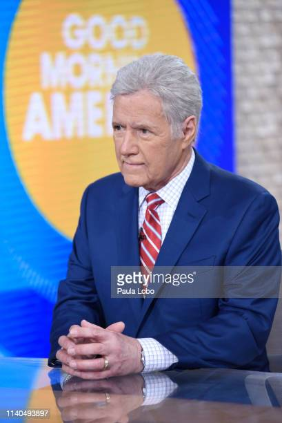 """Alex Trebek discusses his cancer diagnosis with Robin Roberts on """"Good Morning America,"""" Wednesday, May 1, airing on the Walt Disney Television..."""
