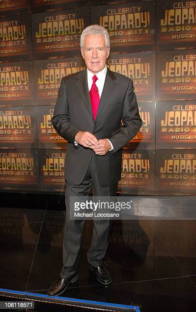 Alex Trebek during Celebrity Jeopardy Celebrates 5000th Episode and 23rd Season at Radio City Music Hall in New York City New York United States