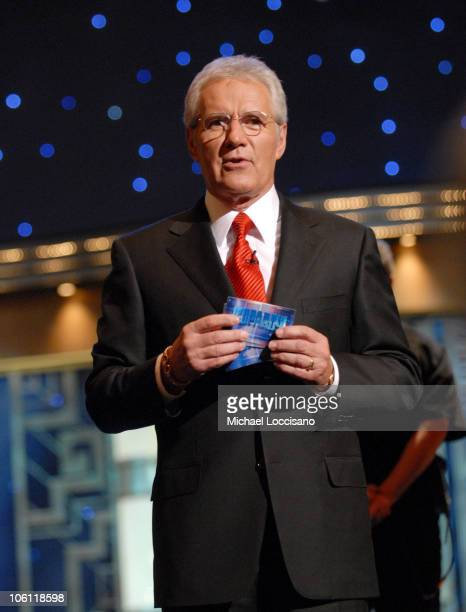 "Alex Trebek during ""Celebrity Jeopardy!"" Celebrates 5,000th Episode and 23rd Season at Radio City Music Hall in New York City, New York, United..."