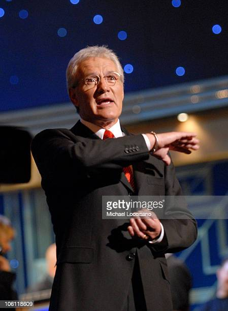 Alex Trebek during 'Celebrity Jeopardy' Celebrates 5000th Episode and 23rd Season at Radio City Music Hall in New York City New York United States