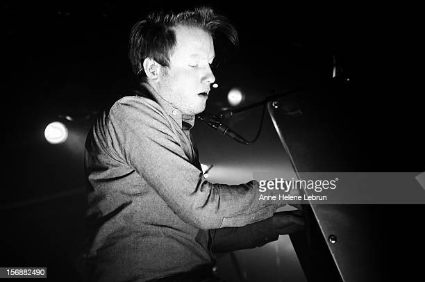 Alex Trimble of Irish band Two Door Cinema Club performs live during a concert at Astra Kulturhaus on November 23 2012 in Berlin Germany