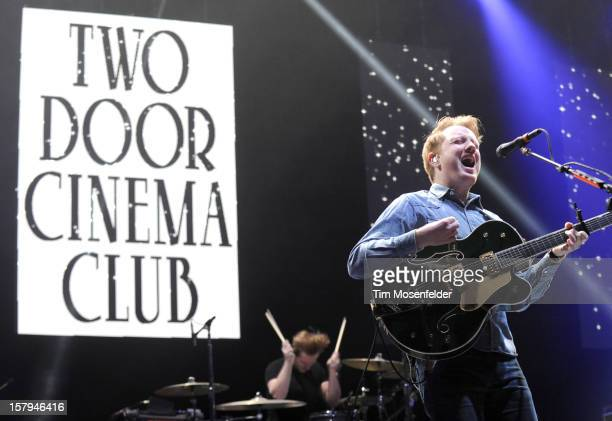 Alex Trimble of Two Door Cinema Club performs as part of Live 105's Not So Silent Night at Oracle Arena on December 7 2012 in Oakland California