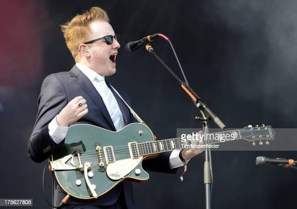 Alex Trimble of Two Door Cinema Club performs as part of Lollapalooza 2013 at Grant Park on August 4 2013 in Chicago Illinois