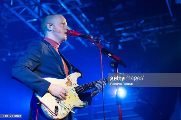Alex Trimble of Two Door Cinema Club performs live on stage at The Liquid Room on June 24 2019 in Edinburgh Scotland