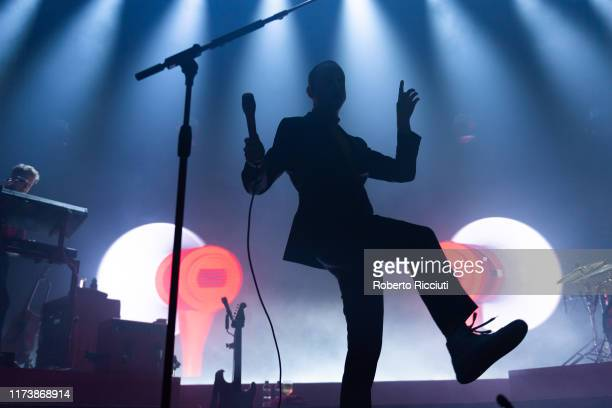 Alex Trimble of Two Door Cinema Club performs on stage at O2 Academy Glasgow on October 5, 2019 in Glasgow, Scotland.