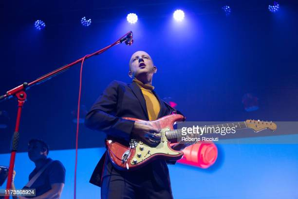 Alex Trimble of Two Door Cinema Club performs on stage at O2 Academy Glasgow on October 5 2019 in Glasgow Scotland