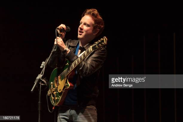 Alex Trimble of Two Door Cinema Club performs on stage during Leeds Festival at Bramham Park on August 24 2012 in Leeds United Kingdom