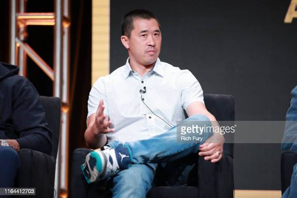 Alex Tsa of 'WuTang An American Saga' speaks onstage during the Hulu segment of the Summer 2019 Television Critics Association Press Tour at The...