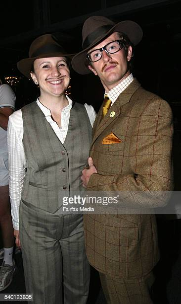 Alex Tudge left and Charlie Brewer at the Movember Gala Party at Luna Park Milsons Point Sydney 29 November 2006 SHD Picture by JANIE BARRETT