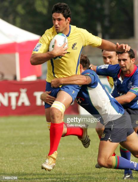 Alex Tudori of Romania in action during the IRB Nations Cup match between Romania and Namibia held at the Tineretului Stadium June 16 2007 in...