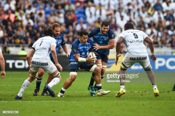Alex Tulou of Castres during the Top 14 semi final match between Racing 92 and Castres on May 26 2018 in Lyon France