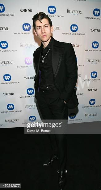 Alex Turner attends The Warner Music Group And Belvedere Brit Awards After Party In Association With Vanity Fair at The Savoy Hotel on February 19...