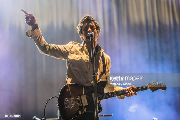 Alex Turner lead singer of Arctic Monkeys performs during a show as part of the Pal Norte Music Festival 2019 on March 23 2019 in Monterrey Mexico