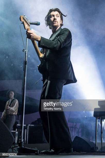 Alex Turner of Arctic Monkeys perform at Hollywood Forever on May 5 2018 in Hollywood California